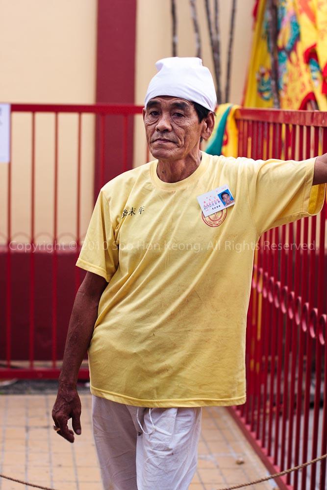 Worker @ Nine Emperor Gods Celebration, Ampang, Malaysia