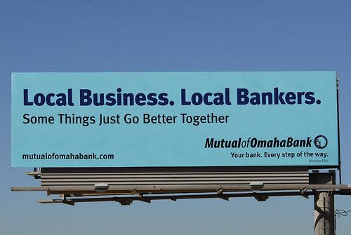 Mutual Of Omaha Logo. Mutual of Omaha Bank billboard