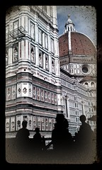 Vor dem Dom in Florenz