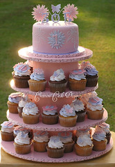 Handmade Cupcake Tower (Christina's Dessertery) Tags: birthday pink party 6 flower tower girl cake butterfly vegan hand purple princess little christina small creative johnson cream first creme made mum lilac homemade cupcake butter daisy designs swirl elegant simple 1m fondant buttercream cuppies roundchocolatevanilla