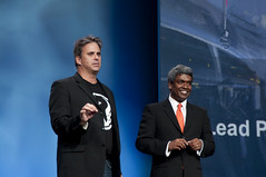 Dave Moore and Thomas Kurian, JavaOne Keynote, JavaOne + Develop 2010, Moscone North