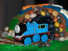 Thomas the Little Tank Engine Birthday Cake for Darian's 3rd Birthday