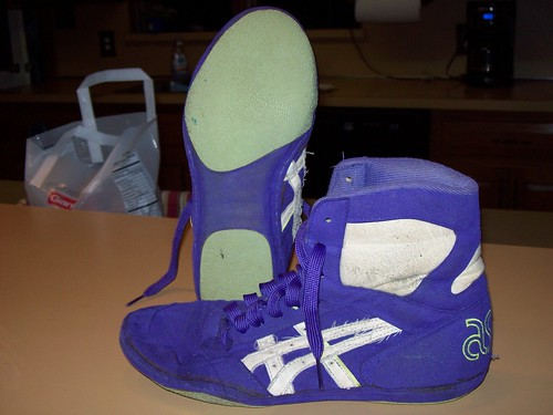 Asics Purple Lyte Wrestling Shoes Purple Lytes Wrestling Shoes