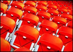 Autumn Chairs (jotemel) Tags: red white milan yellow chairs geometry stadium vivid sansiro acmilan stad intermilan meazza rhytm colorphotoaward