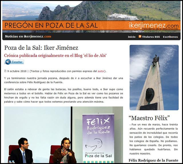 ElLioDeAbi: ElLioDeAbi en la web de Iker Jiménez