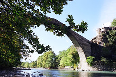 The stone bridge of Konitsa (dkilim) Tags: bridge water stone river greece epirus konitsa aoos