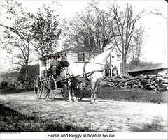 Horse and Buggy in Dublin New Hampshire (Keene and Cheshire County (NH) Historical Photos) Tags: house architecture wagon carriage stonewall cart harness draft horseandcarriage horseandbuggy dublinnh dublinnewhampshire maryerobbe