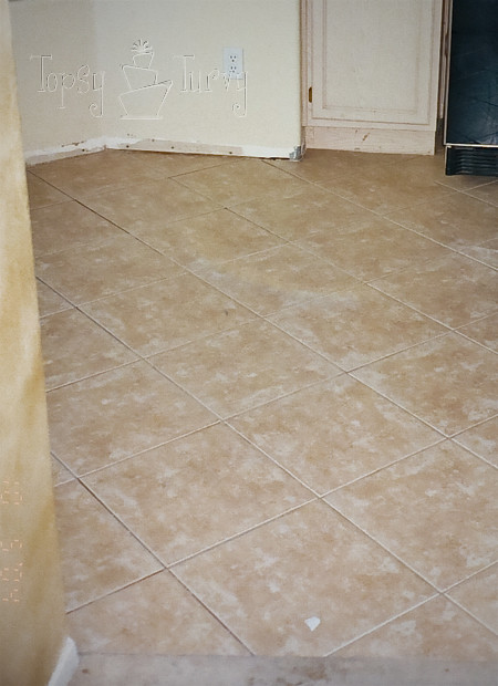 kitchen tile floor finished