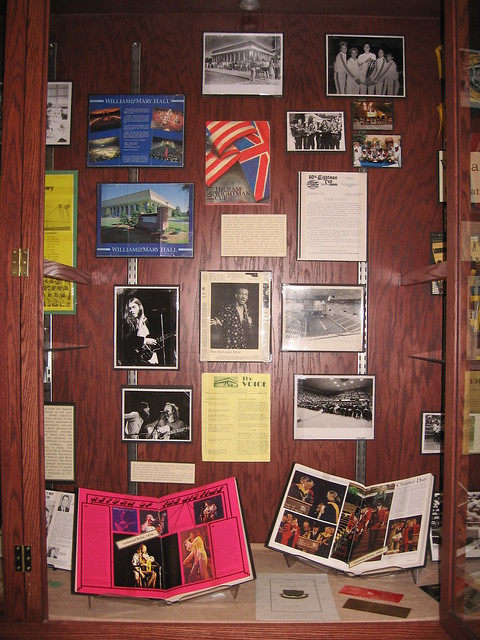 Concerts and other events in William amp Mary Hall by Special Collections Research Center Swem Library
