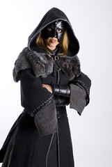 LARP costumes (Lieve Smeulders) Tags: black hat leather fur grey costume mask larp studiolarp