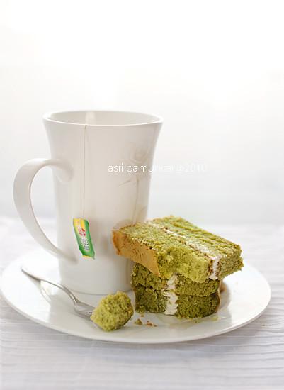 green tea vanila cake