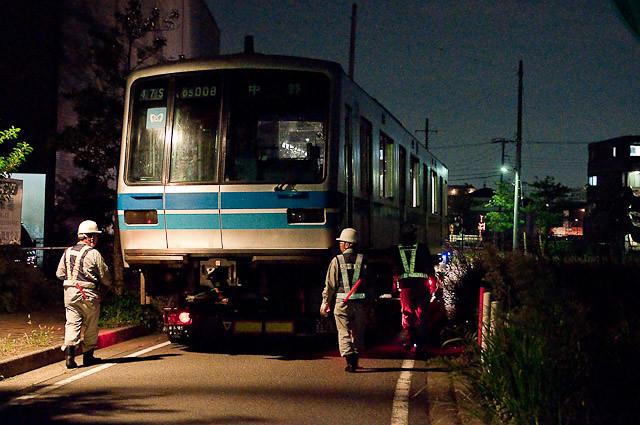 東京メトロ東西線05系05-108F 05-008 川崎港へ陸送