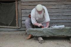 Ein Runenstein entsteht in Haithabu WHH 21-08-2010