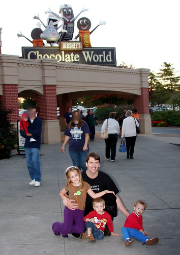 family at chocolate world