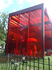 Serpentine Pavillion 2010 (sleekit) Tags: red summer london architecture french design august installation hydepark reds serpentine pavillion westlondon 2010 serpentinegallery jeannouvel frencharchitecture serpentinepavillion frencharchitect august2010 london2010 summer2010 frencharchitects serpentinepavillion2010