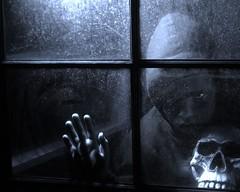 lil zombie (derek raugh) Tags: window skull child zombie scarey derekraugh