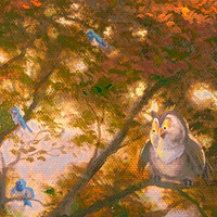 Friend Owl & More Bluebirds