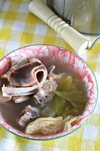 Chinese Pig Stomach, Preserved Vegetable & Peppercorn Soup
