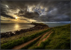 Worms Head Gower (Ivorbean) Tags: sunset sky sunlight nikon moody shadows cloudy dusk urbanexploration orangesky brooding whales redsky photoart hdr atmospheric wormshead burntsky thegower d700 ivorbean derekdallow