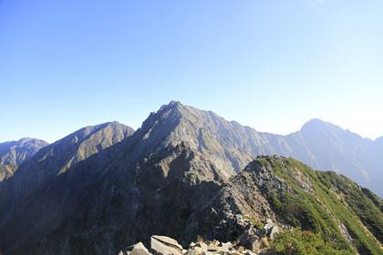西穂高岳から見た奥穂高岳