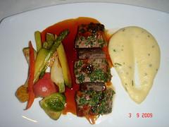 Cordero de Quebec con verduras