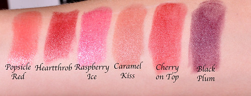 Merle Norman Lip Swatches