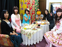 Potluck girl's party! (Artemis Japan crossdressing service Tokyo Yokohama) Tags: travel pink wedding art up japan photography photo pin dress cosplay sweet cd makeup crossdressing tgirl lolita transvestite kimono makeover maid crossdresser pinup ts outing  gyaru nikkon house  gosic femalevoice transvistites