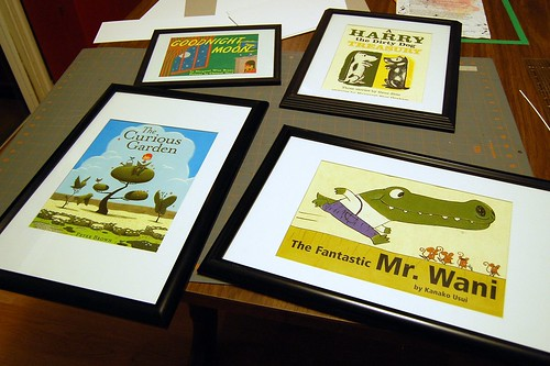 framed dust jackets