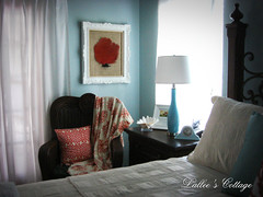 Master Bedroom Makeover (Lallee) Tags: blue beach coral bedroom cottage style master decorating makeover decorate redo