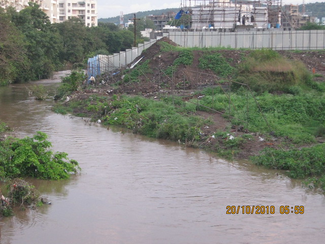 "RamNadi and pebbles 2 BHK 3 BHK Flats at Bavdhan Budruk Pune 411021 - ""If you occupy the river, the river will occupy you!"