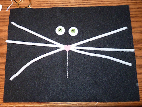 Black Cat Pillow - Step 4