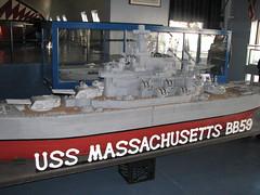 Model of the USS Massachusetts (FranMoff) Tags: boat model ship massachusetts navy battleship uss battleshipcove bb59