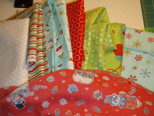 Fabrics for holiday quilt
