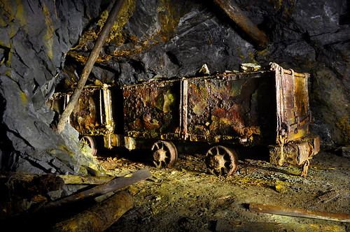 Old Rusted Mine Cars