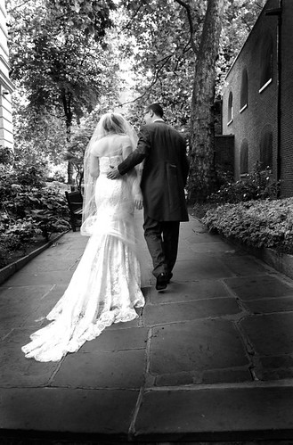 One of the professional wedding shots in Postmans Park