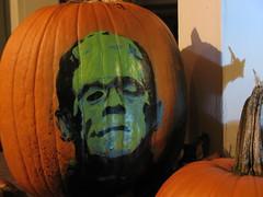 pumpkin stencil (Tanner Stofferahn) Tags: art night pumpkin stencil or frankenstein treat trick stickboy deacoration