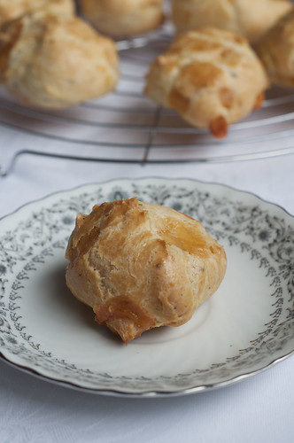 gougeres ready to be eaten