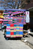 Colourful fabrics on display at th…