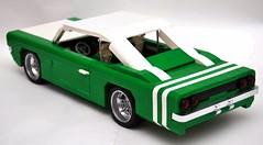 Lime Twist (Gilclio) Tags: cars car brasil lego carros dodge 1968 rt charger 2010 mocs 2011 legobrasil legogil gilclio
