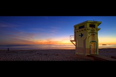 1929 (Eric 5D Mark III) Tags: ocean california sunset panorama seascape beach horizontal canon landscape twilight sand photographer wideangle lifeguard orangecounty lagunabeach 1929 ef14mmf28liiusm eos5dmarkii hpano