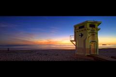 1929 (Eric 5D Mark III) Tags: ocean california sunset panorama seascape beach horizontal canon landscape twilight sand photographer wideangle lifeguard orangecounty lagunabeach 1929 ef14mmf28liiusm eos5dmarkii hpano