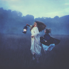 running from wind (brookeshaden) Tags: girls field fog dawn movement running lantern missaniela brookeshaden