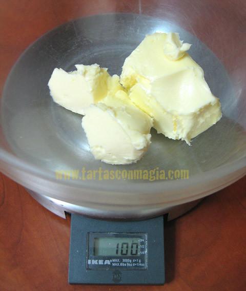 pesando mantequilla