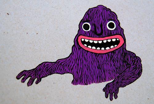 purple noodle monster.