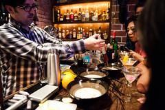 JOH_9442 (star5112) Tags: sanfrancisco bar beverage whiskey class rye drinks alcohol foam future shaker cocktails isi speakeasy liquidnitrogen bourbonbranch molecularmixology