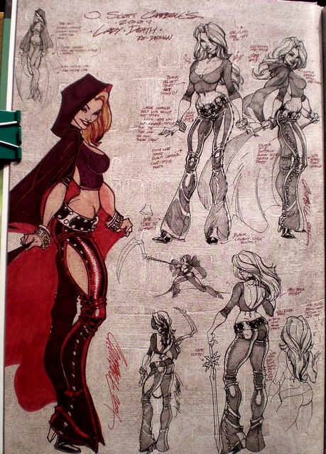 Lady Death redesign  (J Scott Campbell Monster Green, the wicked files, 2009)