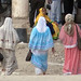 Colourful clothing at the Saladin (Selahedîn) Mausoleum, Umayyid Mosque, Old City, Damascus, Syria