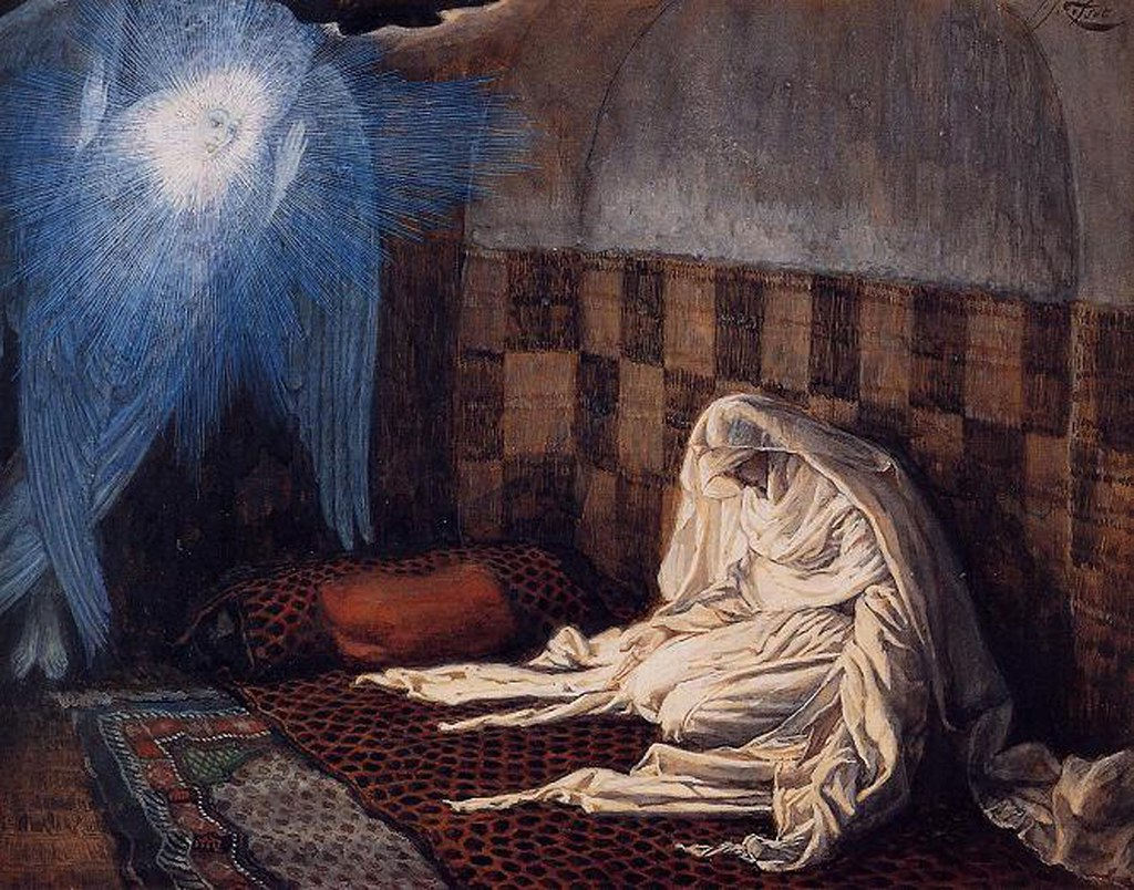 James Tissot (French, 1836-1902) The Annunciation from the series The Life of Christ (1894) Brooklyn Museum of Art, New York.