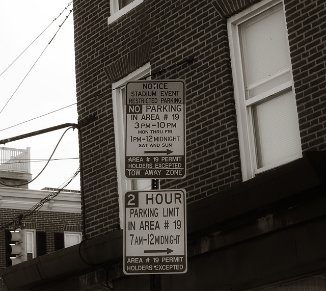 Parking sign, Baltimore