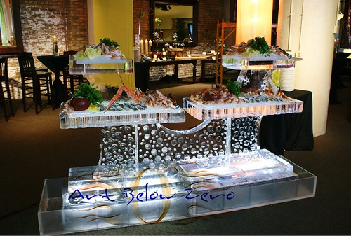 4 trays Seafood Table ice sculpture